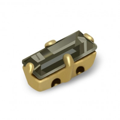 MM7x3 BLACK DIAMOND BAGUETTE gold-5pcs sale online, best price