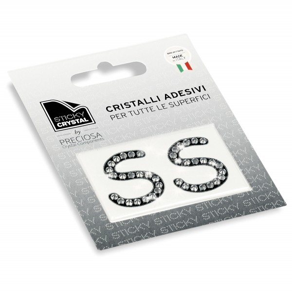 STICKY CRYSTAL COLLECTION LETTER S sale online, best price
