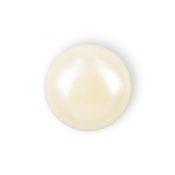 HALF ROUND BEADS MM6 IVORY HOT FIX-Pack of 144 sale online