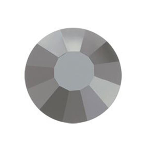 PRECIOSA THERMOADHESIVE SS30 (6, 5 mm) JET SILVER FLARE-Pack of