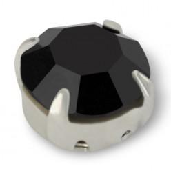 RHINESTONE ROUND SS40 Black-Silver-20pcs sale online, best price