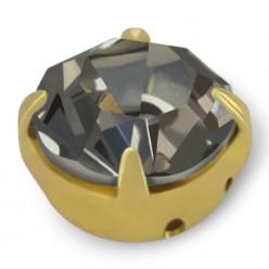 RHINESTONE MAXIMA SS40 BLACK DIAMOND-gold-20pcs