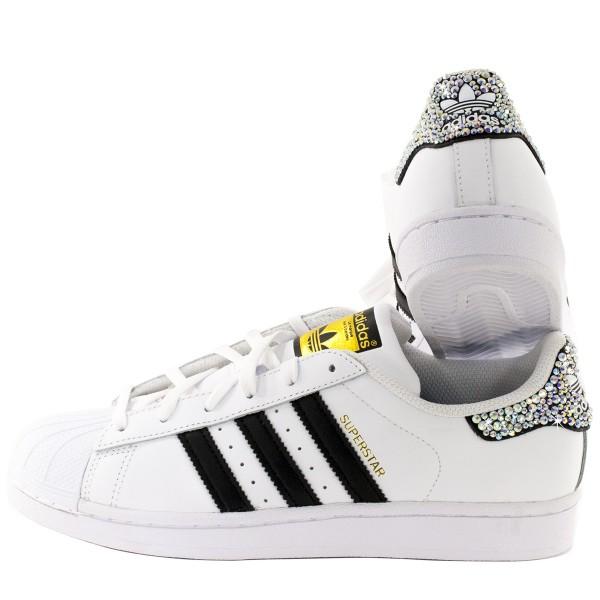 Adidas Super Star Rhinestones Black 3 Stripes sale online, best
