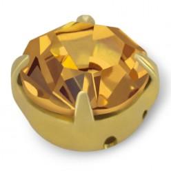 RHINESTONE MAXIMA SS40 LIGHT COL. TOPAZ gold-20pcs