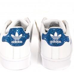 Adidas Super Star Strass 3 Stripes Ray Blue Meilleur Prix