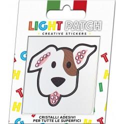 Light Patch Dog Sticker Cristaux Améthyste