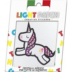 Light Light Amethyst Crystal Unicorn Sticker Patch sale online