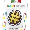 Light Citrine Crystals Hashtag Sticker Patch sale online, best