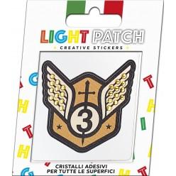 Patch léger armoiries militaires 1 autocollant Cristaux de