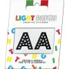 Light Patch Letters AA Sticker Black Crystals Cry sale online