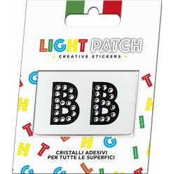 Light Patch Letters BB Sticker Black Crystals Cry sale online