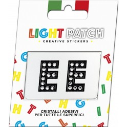 Light Black Crystal Sticker Letters EE Patch Cry sale online