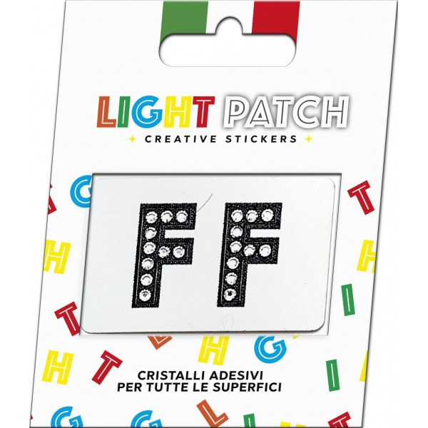 Light Patch Letters FF Sticker Black Crystals Cry sale online