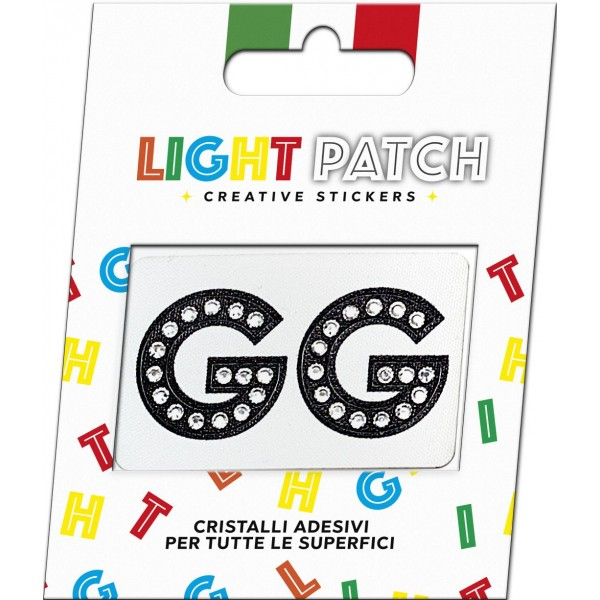 Light Black Crystal GG Sticker Letters Patch Cry sale online