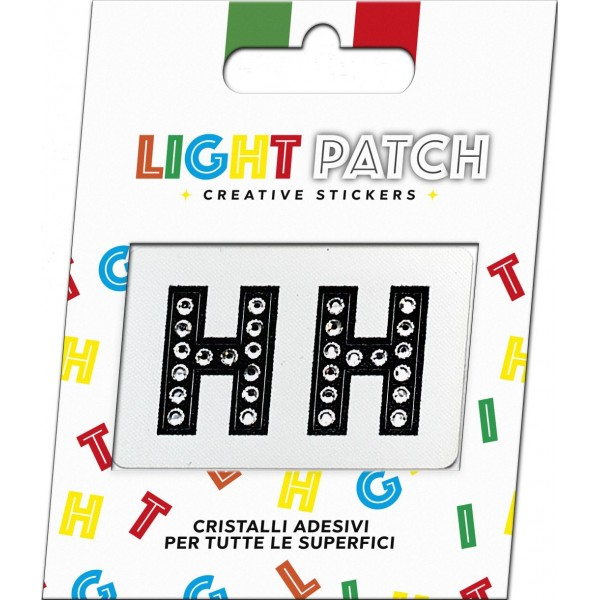 Light Black Crystal Sticker Letters Patch HH Cry sale online