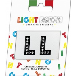 Light Black Crystal Sticker Letters Patch LL Cry sale online