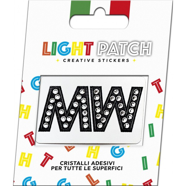 Light Black Crystal Sticker Letters MM Patch Cry sale online