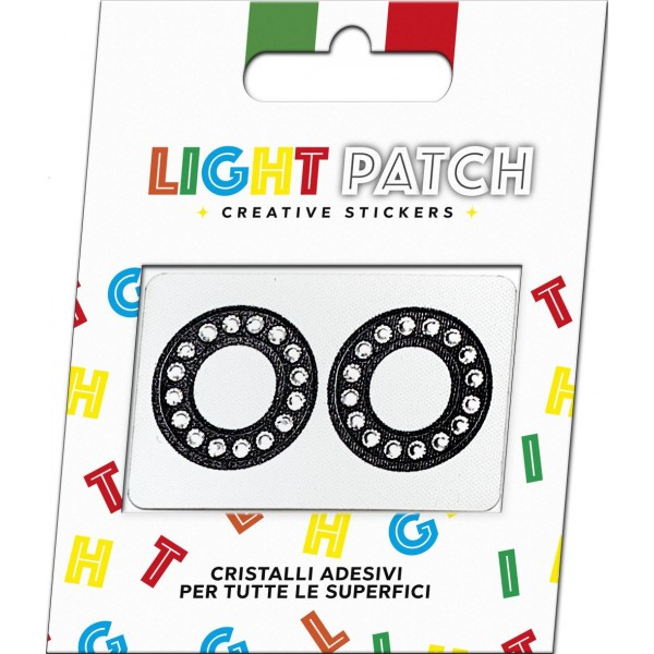 Light Patch Black Crystals Cry OO Sticker Letters sale online