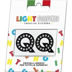 Light Patch Letters QQ Sticker Cristaux noirs Cry Meilleur Prix