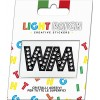 Light Patch Letters WW Sticker Black Crystals Cry sale online
