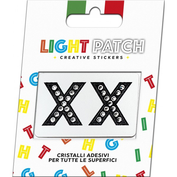 Light Patch Letters XX Sticker Black Crystals Cry sale online