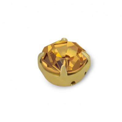 MAXIMA RHINESTONES SS20 LIGHT COL. Topaz-GOLD-40PZ sale online