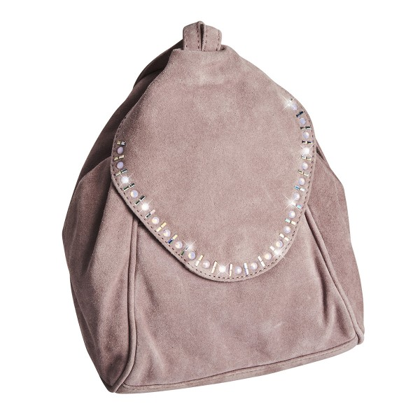 Genuine Leather Backpack with Crystals sale online, best price