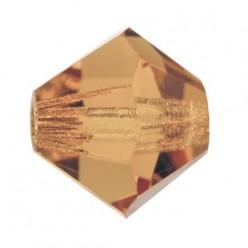 PRECIOSA BICONES MM4 LIGHT COL. Topaz-Pack of 144