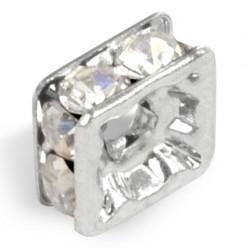 SQUARE WASHER MM8x8 silver-PRECIOSA CRYSTAL-box of 20 PIECES