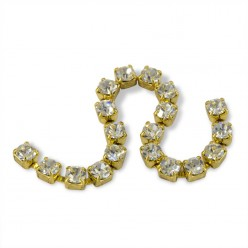 METAL CHAIN SS12 (3, 5 mm) CRYSTAL-gold-1MT sale online, best