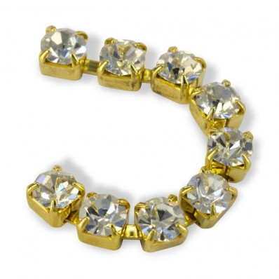 METAL CHAIN SS18 (4, 5 mm) CRYSTAL-gold-1MT sale online, best