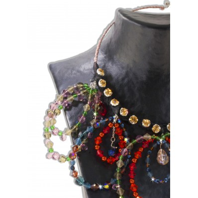 CIRCLE NECKLACE with Preciosa sale online, best price