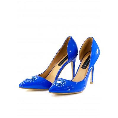 BLUE STILETTO with Preciosa SZ 39 sale online, best price